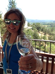 Hanging at the winery