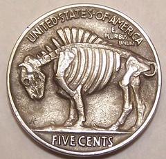 Hobo Nickel skeleton reverse