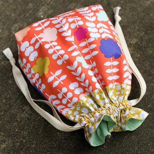 Geometric Bliss Drawstring Bag