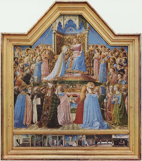 Angelico, Coronation of the Virgin. c. 1434-1435.