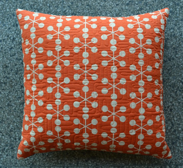Orange Pillow back