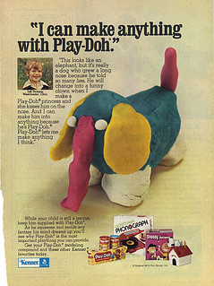 """KENNER :: """"I can make anything with Play-Doh."""" (( 1974 ))"""