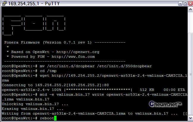 putty openwrt-ar531x-2.4-vmlinux-CAMICIA.lzma
