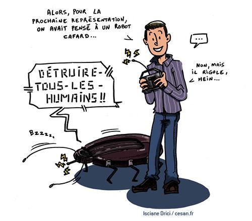 Sur les planches de théâtre, la robotique s'invite dans Kafka, Par Isciane Drici