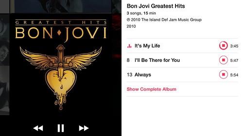 Music player บน iPhone 6 Plus