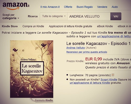 Le sorelle Kagacazov nell'Amazon Kindle Store