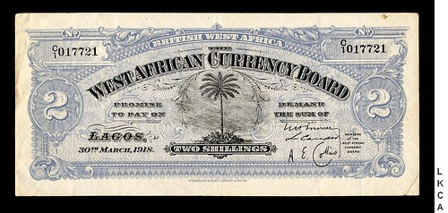 1918 British West Africa 2 shillings