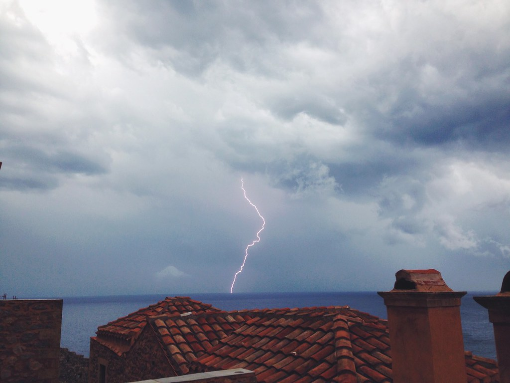 Lightening in Monemvasia