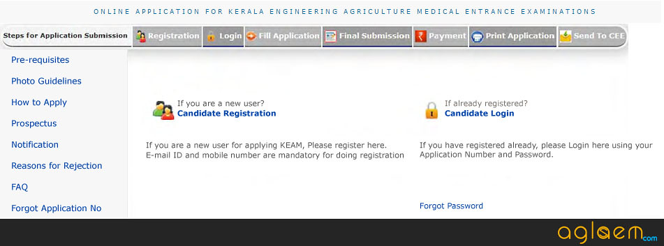 KEAM Application Form 2015