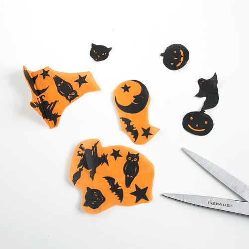 Paper Napkin Decoupaged Pumpkins