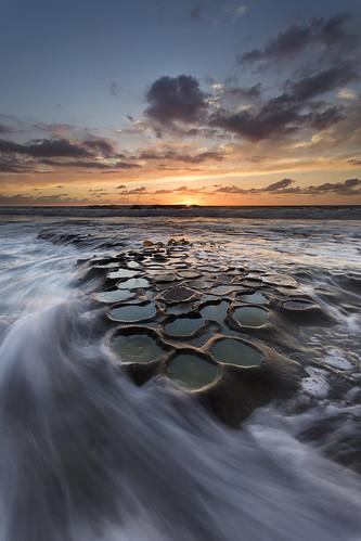 sunset sky sun clouds waves sandiego lajolla potholes oceanoceanscape hospitalsreef