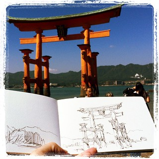 #japon #miyajima #urbansketch #platinum #carbon #moleskine