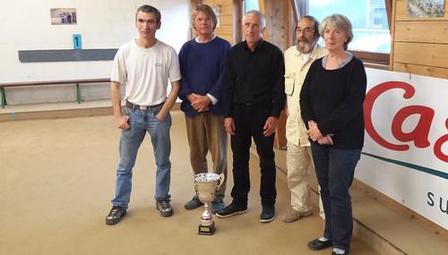 18/10/2014 - Carantec : Les finalistes et demi-finalistes du concours de boules plombées en tête-à-tête