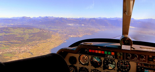 Taking off from Lausanne