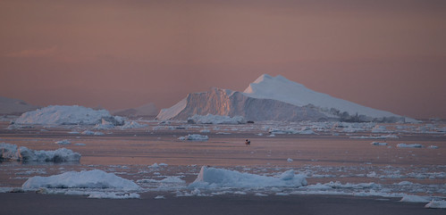 sunset landscape arctic greenland icebergs ilulissat icefjord diskobay ilulissaticefjord ilulisat