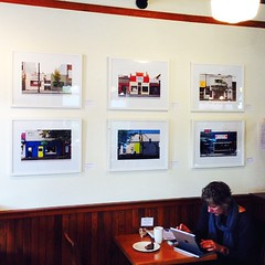Another lil sneak peek at the Disappearing Main Street exhibit. At the Bean on 20th thru November. #vancouver #art