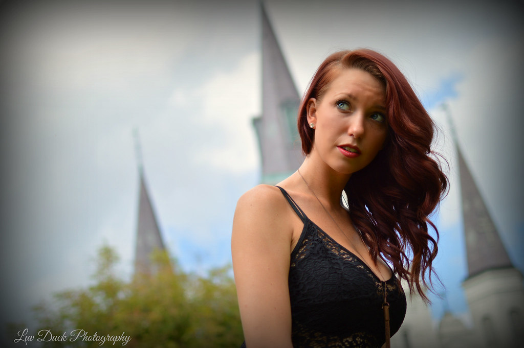 Caitlin at the Cathedral