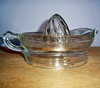 Vintage pressed glass juicer / reamer