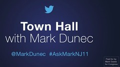 Twitter Town Hall - #NJ11 candidate Marc Dunec