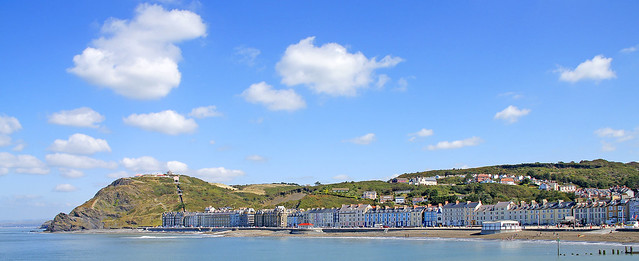 A beautiful day at Aberystwyth, one of the best student towns in the UK