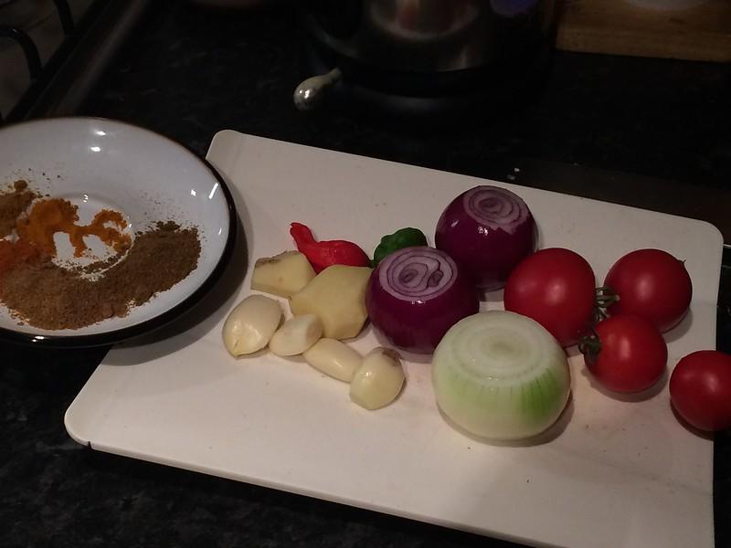 7 Pot Keema : Prepare the vegetables