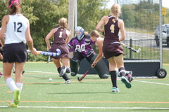 tackle(0.0), women's lacrosse(0.0), stick and ball games(1.0), sports(1.0), competition event(1.0), team sport(1.0), hockey(1.0), field hockey(1.0), ball game(1.0), tournament(1.0),