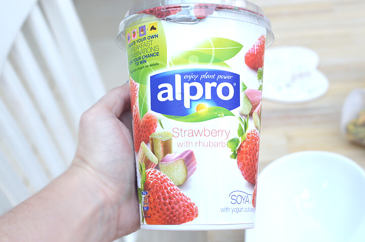 alpro strawberry milk bubble tea
