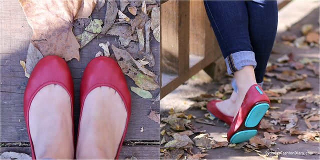 Tieks flats in cardinal red