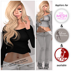 Gawk!  Baggy Pullover - Mesh Body Appliers