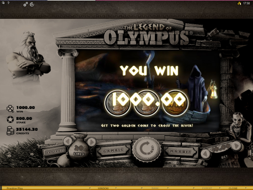 The Legend of Olympus Bonus Feature Win