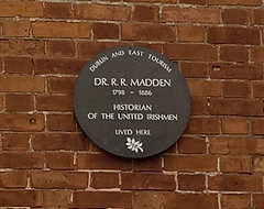 Photo of Richard Robert Madden brown plaque