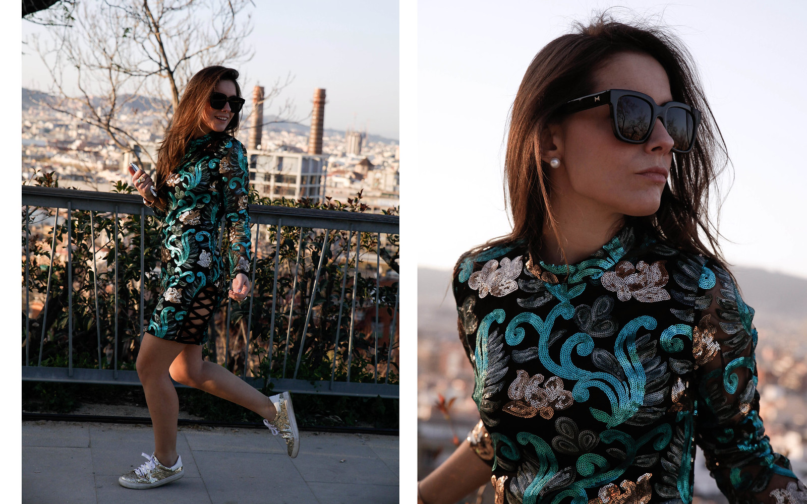 011_Green_sequins_dress_outfit_the_guest_girl_theguestgirl_laura_santolaria_fashion_blogger_danity_paris_influencer_barcelona