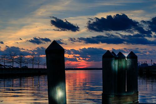 norfolk virginia freemasonharbor sunset