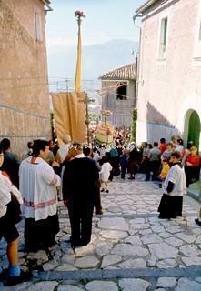 "Sala Consilina (SA), 1972, Festa di San Michele Arcangelo e ""Volo dell'Angelo""."