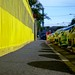 yellow fence & cars-1309 by roger hyland