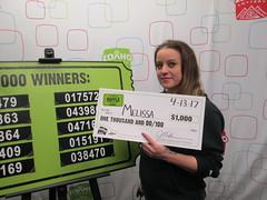 Melissa - $1,000 - St. Patrick's Day Raffle