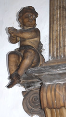 cherub with clasped hands