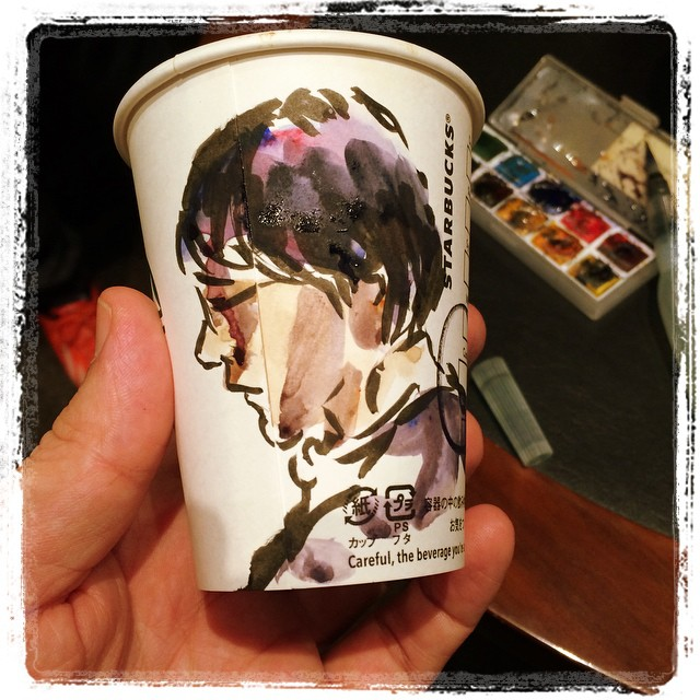 #japon #portraits #pentel #starbucks #watercolor