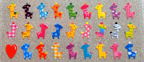 Colorful Giraffe Stickers