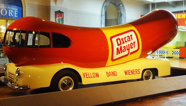 oscar-meyer-wienermobile henry ford museum dearborn detroit michigan