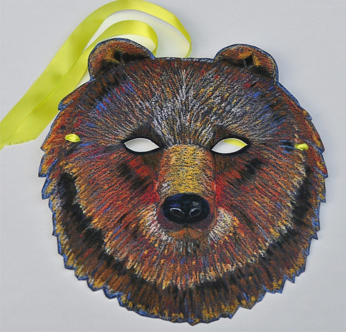 Brown Bear Mask - Vicki Smith Art