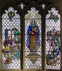 Stained glass window, St Margaret's church, Bethersden