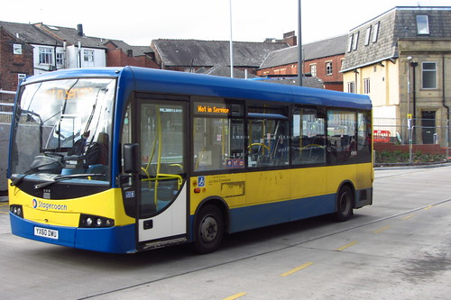 Stagecoach Manchester Plaxton Primo YX60 DWU, Rochdale Interchange