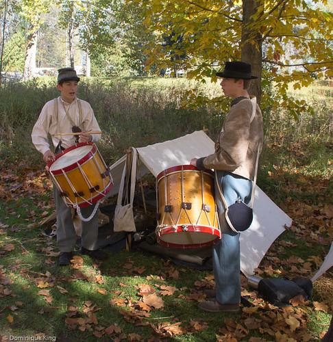 Clvil War Re-enactment, Wolcott Mill, Ray, Michigan