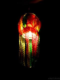Paper lantern as Diwali decor