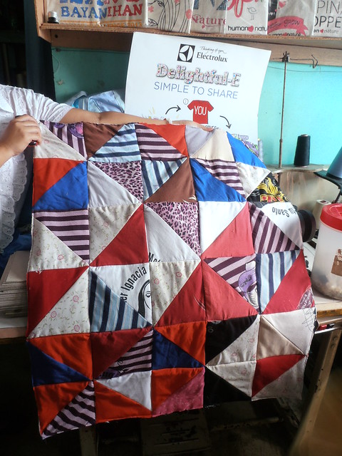 Electrolux transforms worn out clothes into quilts with Gawad Kalinga's Trese
