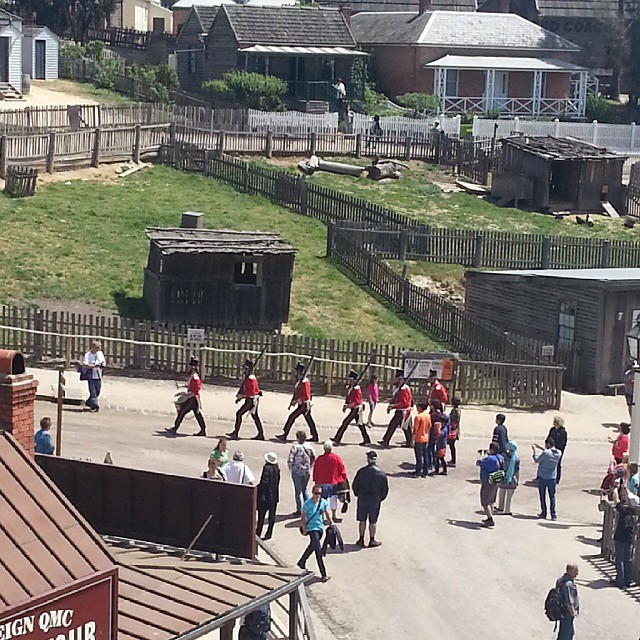 The red coats are coming!  #ballarat #sovereignhill