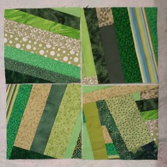 "Scrappy green project progress! 12"" blocks #nopattern #wingingit"