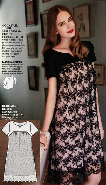 Burda-2014-October Lace Babydoll Dress