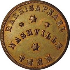 TN690B Black issuer Civil war token